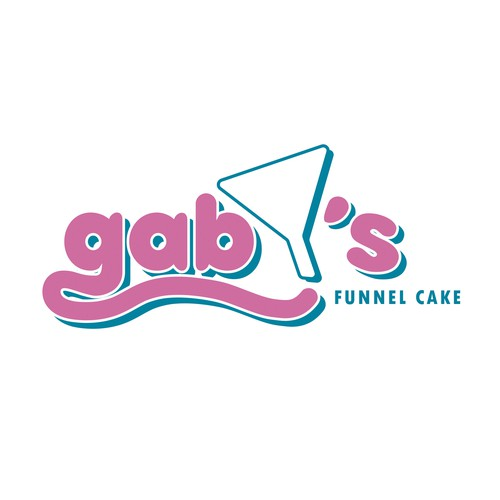 Feminine and youthful logo concept for a Funnel Cake restaurant