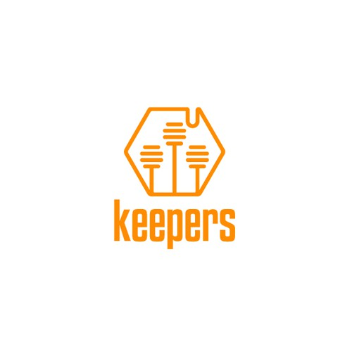 Playful and modern logo for beekeeping business