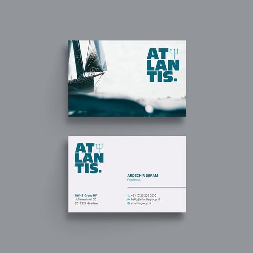 Elegant Business card for Atlantis
