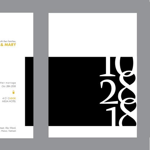 Min.Wed Invitation Design