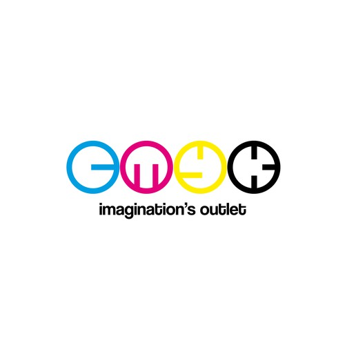 A highly creative Logo for CMYK, a Fresh food cafe that also  promote local artists and designers