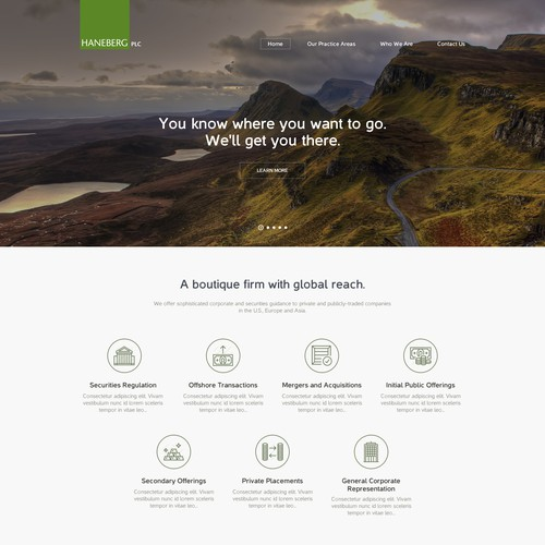 Create a dynamic (yet small) website for an unusual law firm