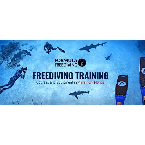 Header for freediving website