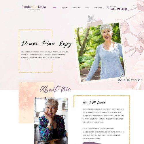 Financial Planning with Flair needs a website revamp