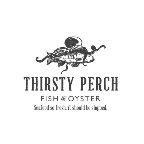 Create the next logo for Thirsty Perch Fish House