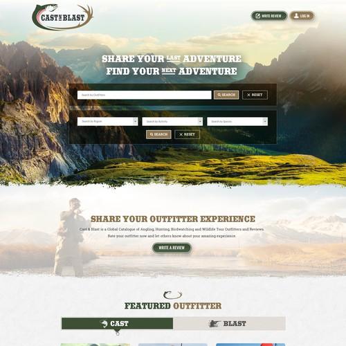 Hunting & Fishing Company Homepage Design
