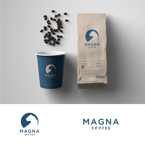 magna coffee with the concept of negative space