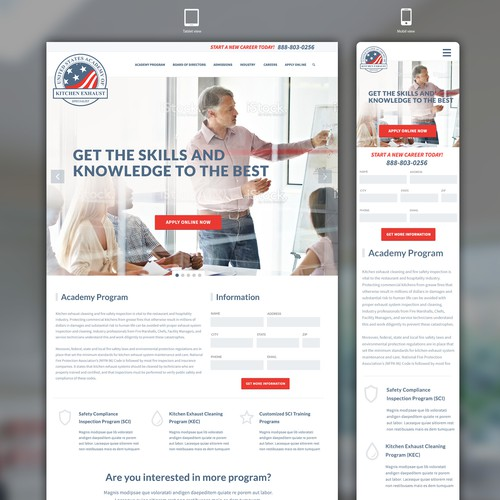 Redesign of existing USAKES Academy website