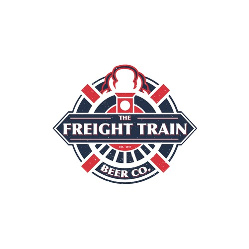 """Logo concept for """"The Freight Train Beer Co."""""""