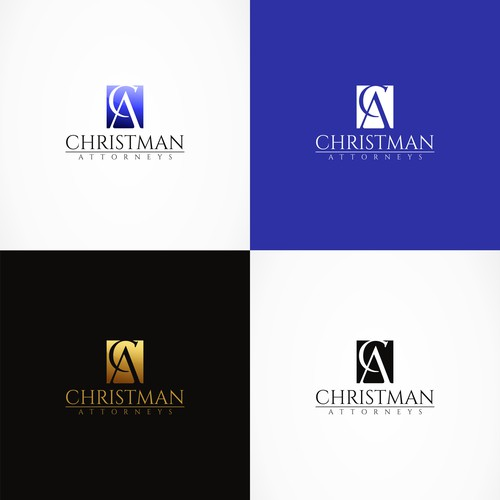 Classic sophisticated logo design for Chritman Attorneys