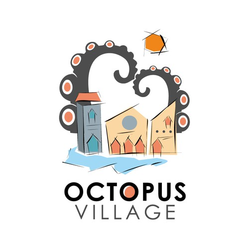 Help octopus village with a new logo