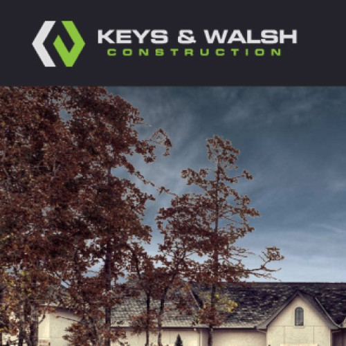 Create a capturing new logo for Keys & Walsh Construction!