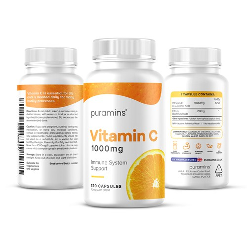 Fresh Vitamin C Supplement Design