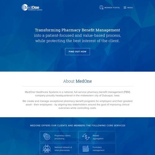 MedOne Parallax Site