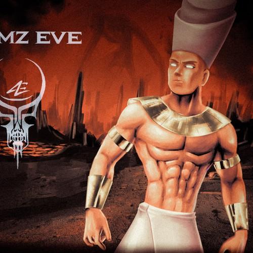 Website/social media art work for heavy metal band Atumz Eve