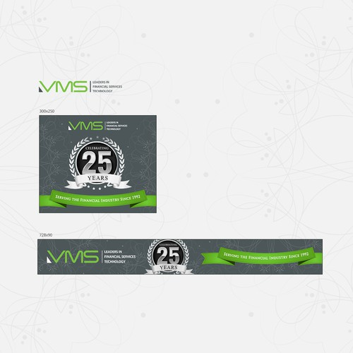 Banner design for VMS 25th Anniversary