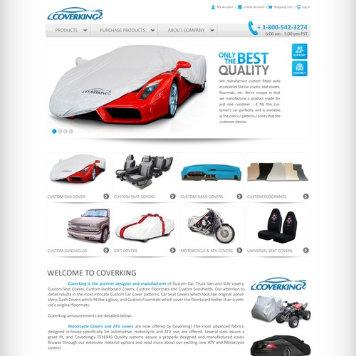 Clean Automotive Accessories Site