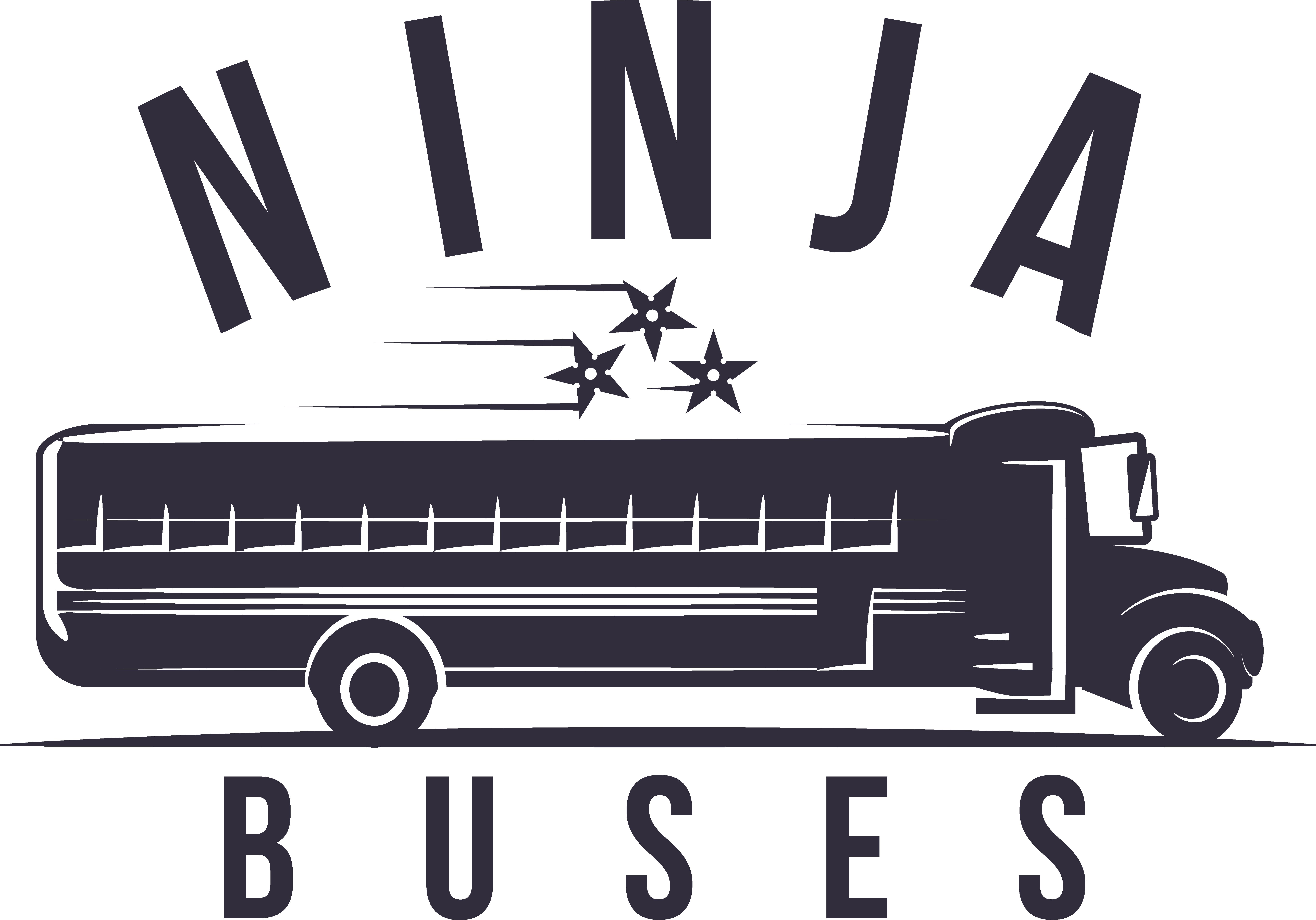 Create a sophisticated, yet cool logo for Ninja Buses (see ninjabuses.com)