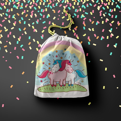 Bag with unicorn