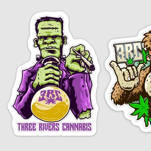 Cannabis stickers