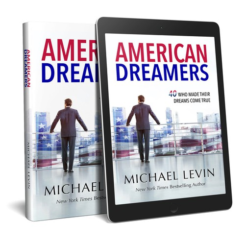 """Book cover design for """"American Dreamers"""""""
