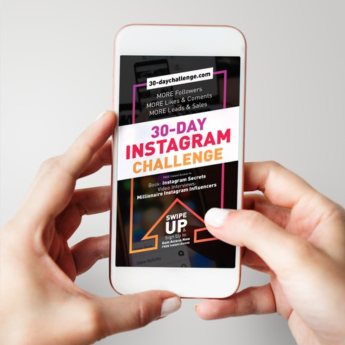 Instagram's Story Swipe up Banner