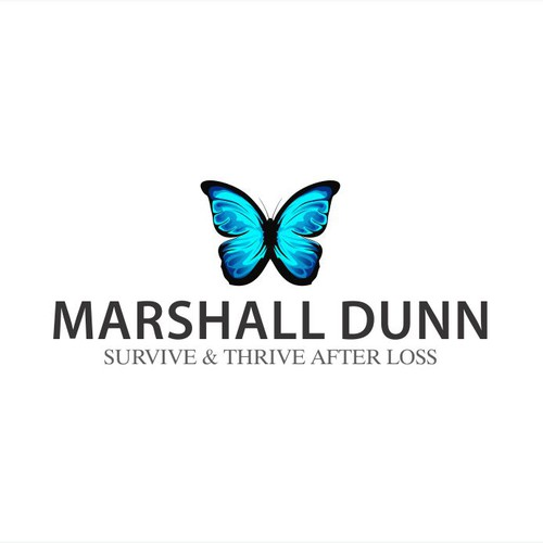 Create a healing, spiritual name logo for Marshall Dunn - helping survivors of suicide and loss