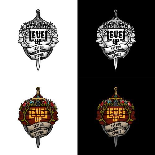 Level Up Sticker Design