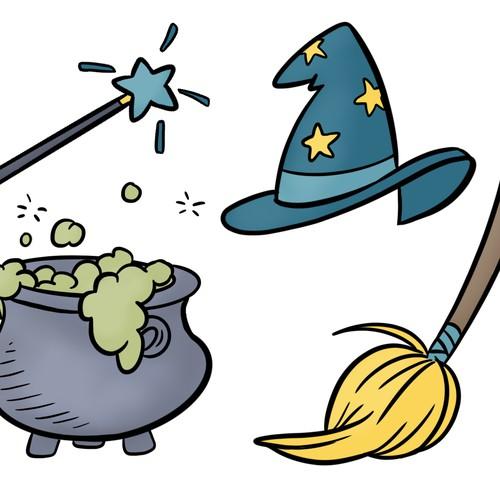cartoon magic stickers
