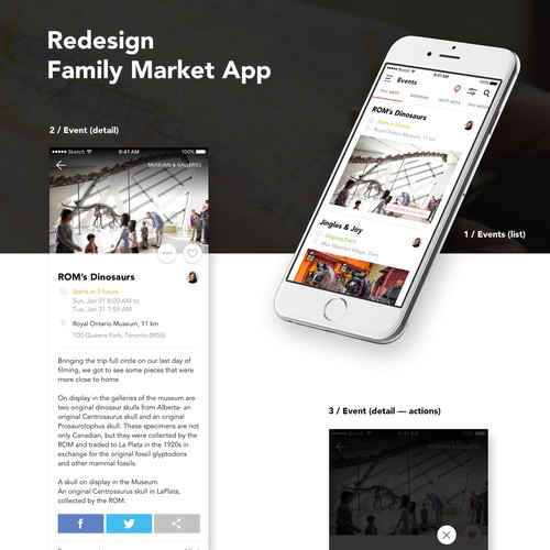 Redesign Family Market App