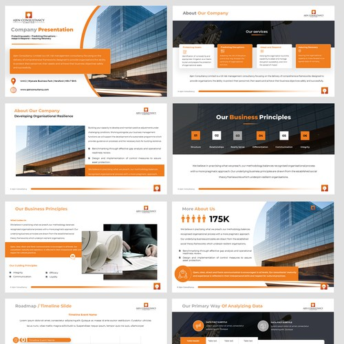 PowerPoint Template for Consulting Company