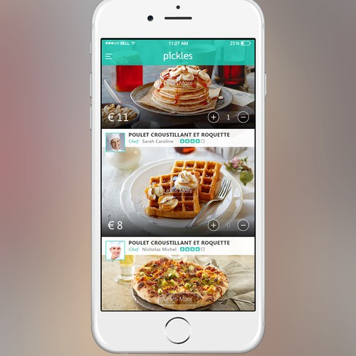 Food Ordering Restaurant App design concept