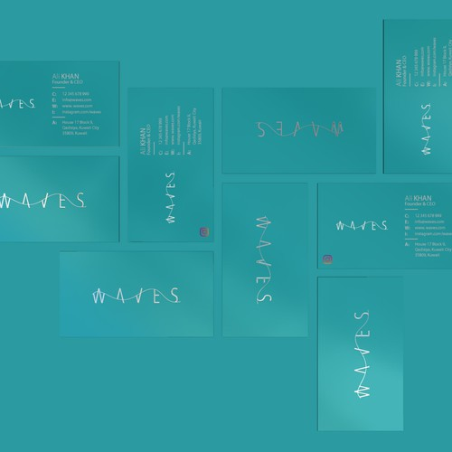 Logo dsign for Waves beach in Kuwait