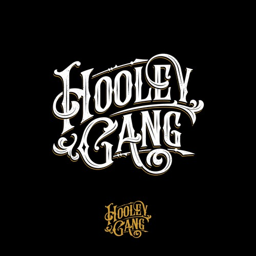 Hooley Gang folk band logo design
