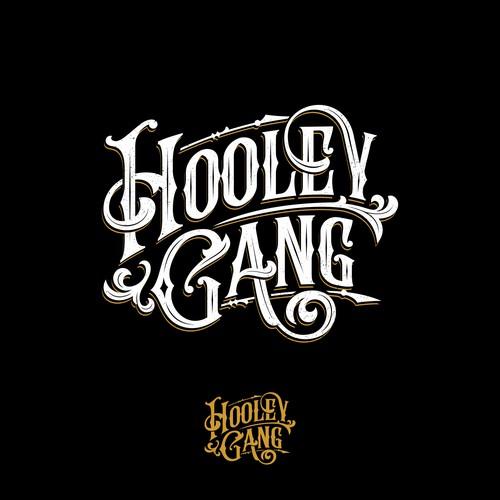Hooley Gang folk band logo design