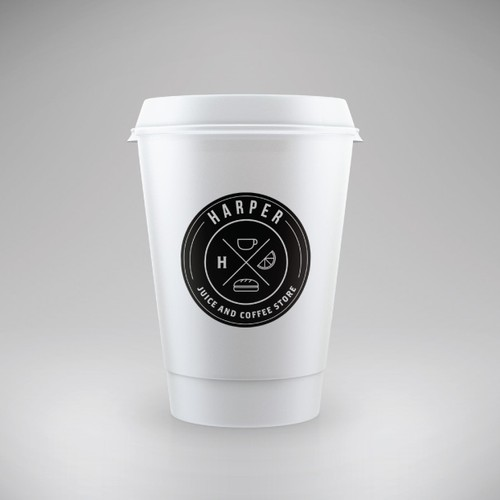Create a logo for a Juice and Coffee store, trying to attract hipsters