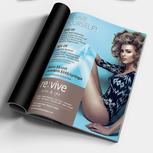 Magazine Ad for Salon and Spa