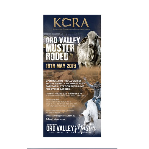 Ord Valley Muster Rodeo Flyer Design