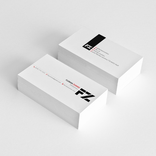 Business Cards for Florian Zunino