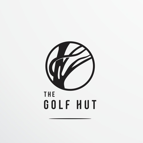 "A Logo for ""The Golf Hut"", stories from the world's best golf hut"