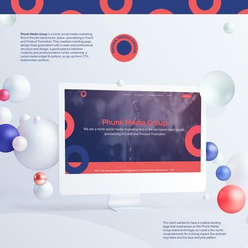 Landing Page Design - Phunk Media Group