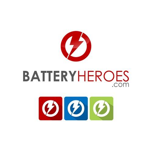 Design the superhero logo for BatteryHeroes.com
