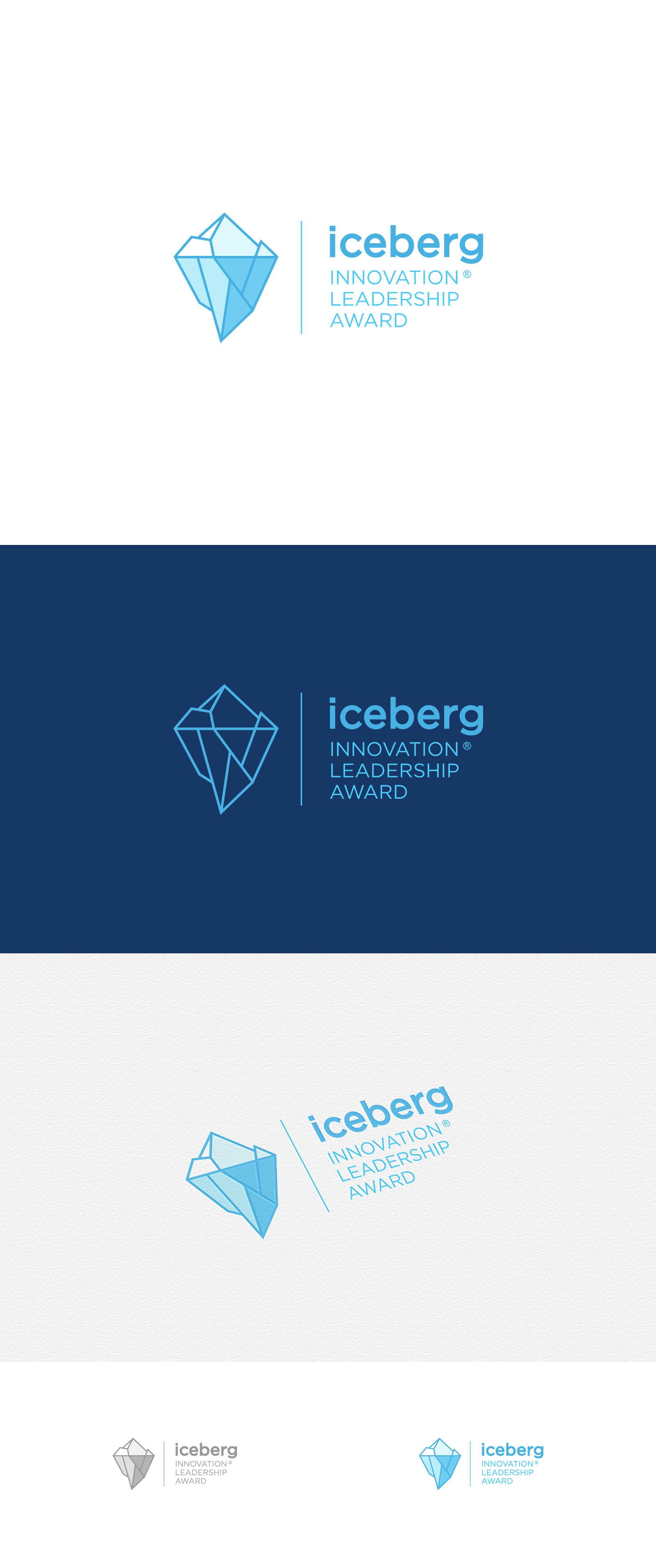 Create an awesome logo for ICEBERG Innovation Leadership Award