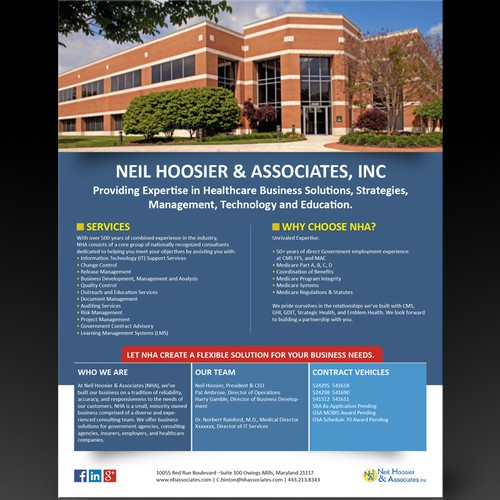 NHA Flyer/Pamphlet design! we will use the designer for future products and branding