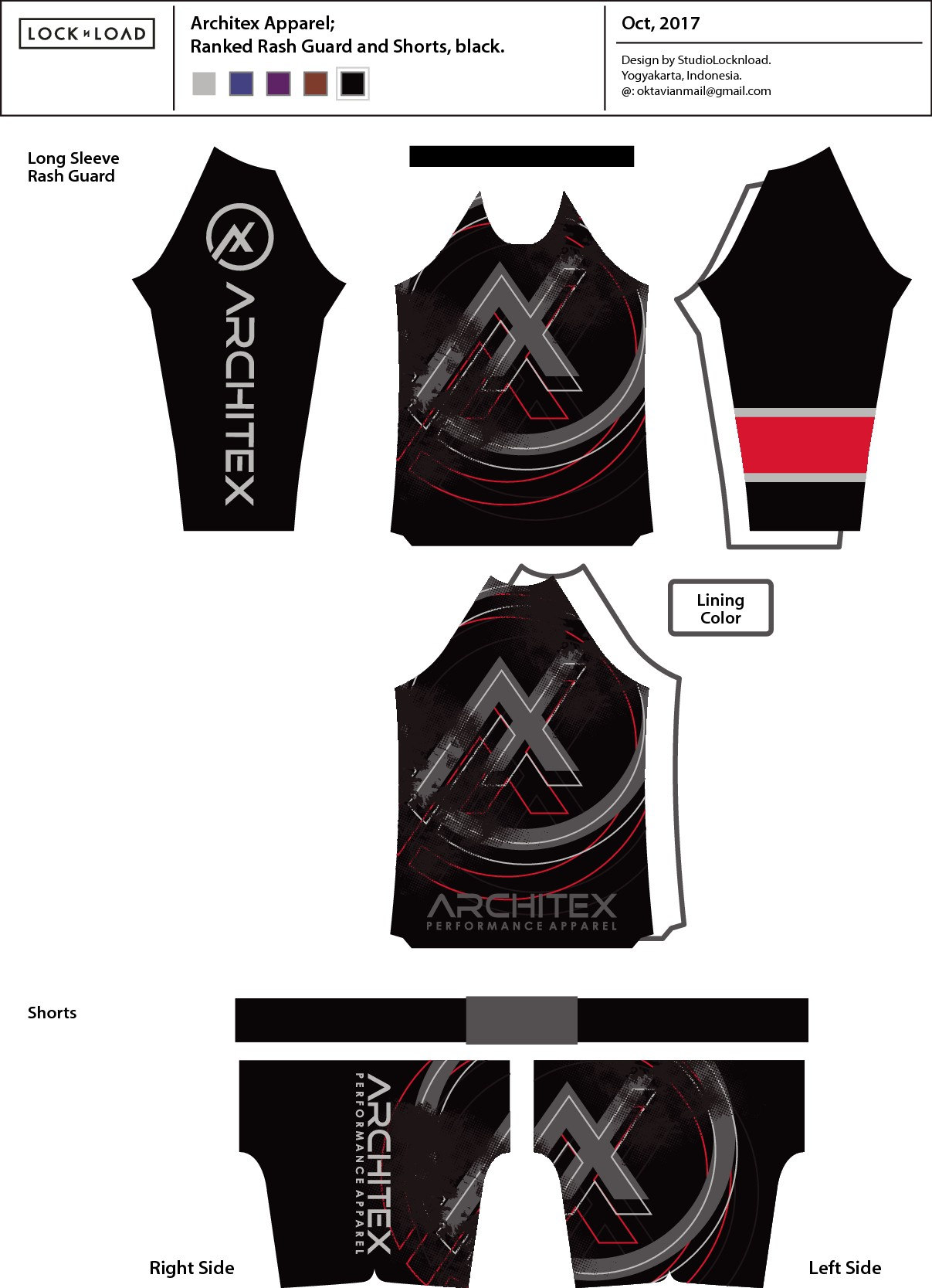 I need a custom rashguard and shorts design for my Jiu-Jitsu brand.