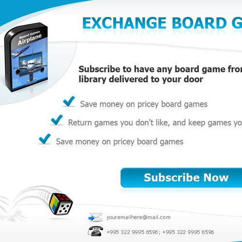 website design for ExchangeBoardGames.com