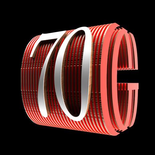 Design of number '70'