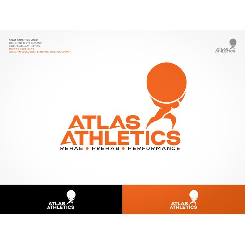 Atlas Athletics Branding Identity Package