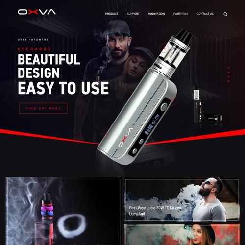 oxvape Vaping product manufacturer website design