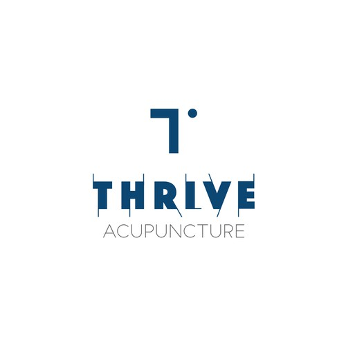 Bold logo concept for acupuncture clinic